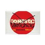Domestic Violence w/Yellow UR Rectangle Magnet (10