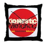 Domestic Violence w/Yellow UR Throw Pillow