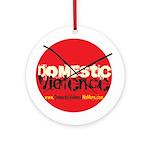 Domestic Violence w/Yellow UR Ornament (Round)