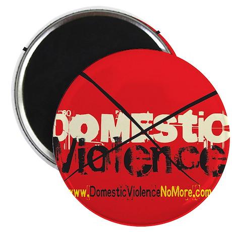 "Domestic Violence w/Yellow UR 2.25"" Magnet (100 pa"