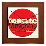 Domestic Violence w/Yellow UR Framed Tile