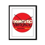 Domestic Violence w/Yellow UR Framed Panel Print