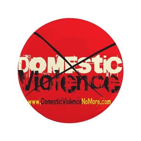 "Domestic Violence w/Yellow UR 3.5"" Button"