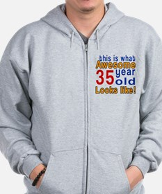 This Is What Awesome 35 Year Old Looks Zip Hoodie