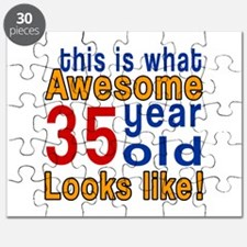 This Is What Awesome 35 Year Old Looks Like Puzzle