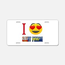 I Love Saint Pierre Aluminum License Plate