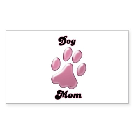 Dog Mom3 Rectangle Sticker
