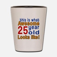 This Is What Awesome 25 Year Old Looks Shot Glass