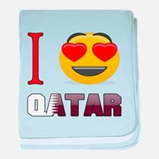 I love Qatar baby blanket