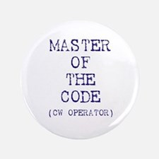 """Master Of The Code (CW Operat 3.5"""" Button"""