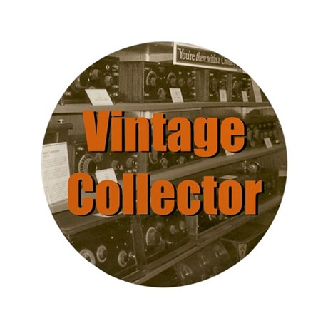 "Vintage Collector 3.5"" Button"