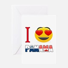 I love Panama Greeting Card