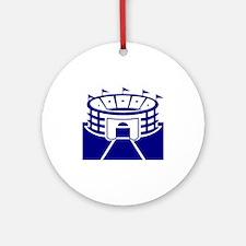 Blue Stadium Round Ornament