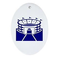 Blue Stadium Oval Ornament