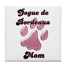 Dogue Mom3 Tile Coaster