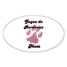 Dogue Mom3 Oval Decal