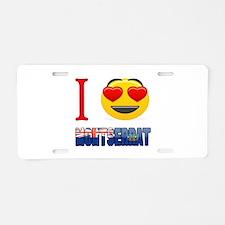 I love Montserrat Aluminum License Plate
