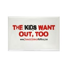The Kids Want Out Too, Produc Rectangle Magnet