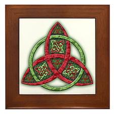 Celtic Holiday Knot Framed Tile