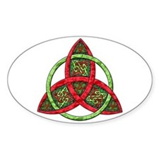 Celtic Holiday Knot Oval Decal