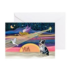 XmasStar/Cattle Dog Greeting Cards (Pk of 20)