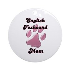 English Fox Mom3 Ornament (Round)