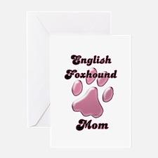 English Fox Mom3 Greeting Card
