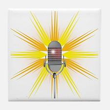 Unique Comedian microphone Tile Coaster