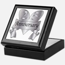 Cool Silver anniversary Keepsake Box