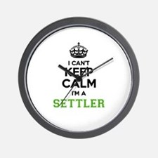 SETTLER I cant keeep calm Wall Clock