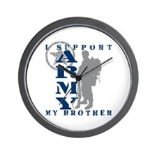 I Support My Bro 2 - ARMY Wall Clock