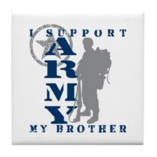 I Support My Bro 2 - ARMY Tile Coaster