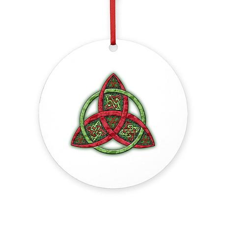 Celtic Holiday Trinity Knot Ornament (Round)