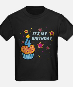 It's My Birthday Age 4 T-Shirt