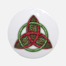 Celtic Holiday Trinity Knot Ornament (Round)