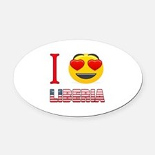 I love Liberia Oval Car Magnet