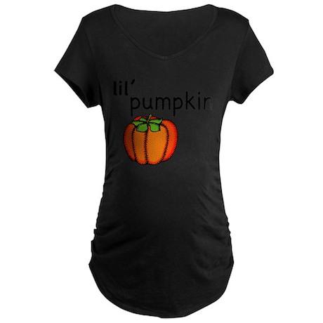 Little Pumpkin Thanksgiving Maternity T-Shirt