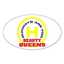 R.B.Queens round graphic Oval Decal
