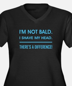 I'M NOT BALD Women's Plus Size V-Neck Dark T-Shirt