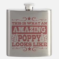 Cute Poppy Flask