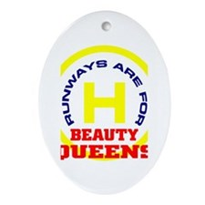 R.B.Queens round graphic Oval Ornament