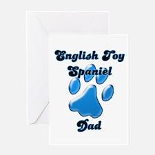 Toy Spaniel Dad3 Greeting Card