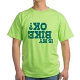 Mountain bikers Green T-Shirt