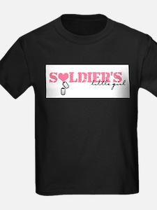 Soldier's Little Girl Kids T-Shirt