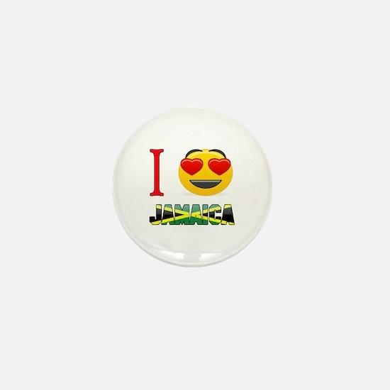 I love Jamaica Mini Button
