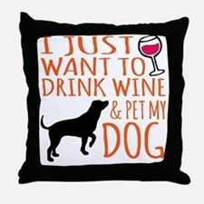 Unique My dog Throw Pillow