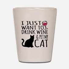Funny Cat cup Shot Glass