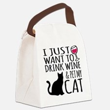 Cool Cats Canvas Lunch Bag