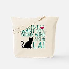 Cute Cat cup Tote Bag