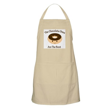 Chocolate Donut Smiley BBQ Apron